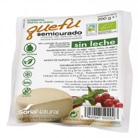 Queso de soja semicurado quefu ecológico Soria Natural 200 g