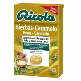 Caramelos de hierbas suizas sin azúcar Ricola 50 g.