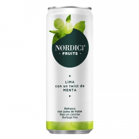 Refresco de lima-menta Nordic Mist con gas lata 25 cl.