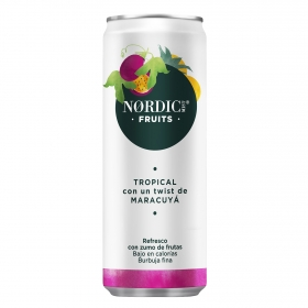 Refresco tropical Nordic Mist con gas lata 25 cl.