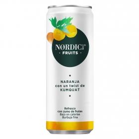 Refresco de naranja Nordic Mist con gas lata 25 cl.