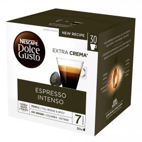 Café espresso intenso en cápsulas Nescafé Dolce Gusto 30 unidades de 8 g.