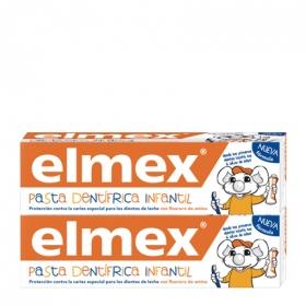 Dentífrico infantil protección contra la caries Elmex pack de 2 unidades de 50 ml.