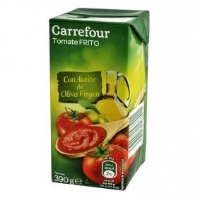 Tomate frito con aceite de oliva virgen Carrefour brick 390 g.