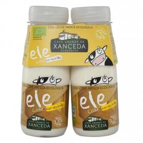 Yogur líquido ecológico sabor vainilla