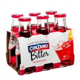 Soda Cinzano pack de 6 botellas de 10 cl.
