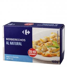 Berberechos al natural Carrefour 111 g.