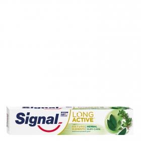 Dentífrico cuidado de encías herbal long active Signal 75 ml.