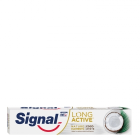Dentífrico blanqueante coco long active Signal 75 ml.