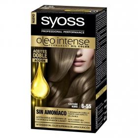 Tinte sin amoníaco oleo intense 6-55 castaño humo SYOSS 1 ud.