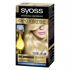 Tinte sin amoníaco oleo intense 12-0 aclarante extremo SYOSS 1 ud.