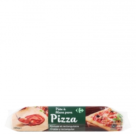 Masa maxi pizza Carrefour 385 g.