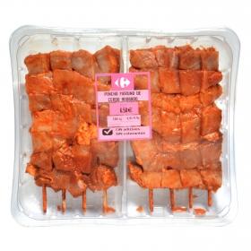 Pincho de jamón de cerdo Sin Aditivos Carrefour bandeja 8 ud