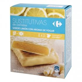 Barrita sustitutiva de comida rellena de yogur limón