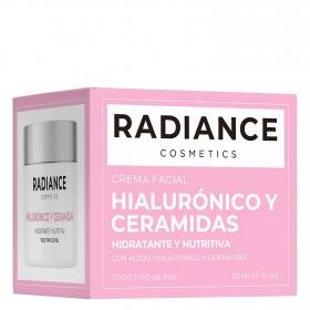 Crema facial hialurónico y ceramidas para todo tipo de piel Radiance 50 ml.