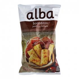 Bocaditos sabor jamón y tomate Alba 110 g.