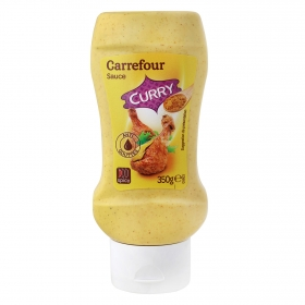 Salsa curry Carrefour envase 350 g.