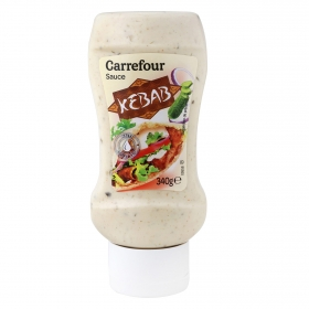 Salsa kebab Carrefour envase 340 g.