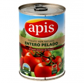 Tomate natural entero pelado Apis 390 g.