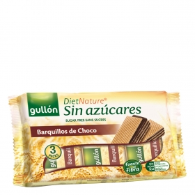 Galletas de barquillo de chocolate Diet Nature Gullón 210 g.