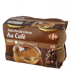 Crema de café Carrefour pack de 4 unidades de 100 g.
