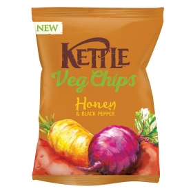 Aperitivos de verduras con miel y pimienta negra Kettle 100 g.