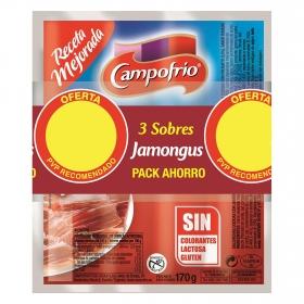 Salchichas jamongús Campofrío pack de 3 unidades de 170 g.