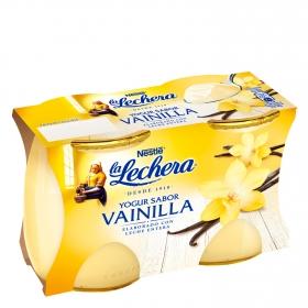 Yogur de vainilla Nestlé La Lechera pack de 2 unidades de 125 g.