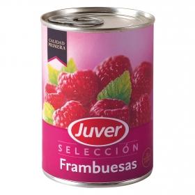 Frambuesa an almíbar Juver 125 g.