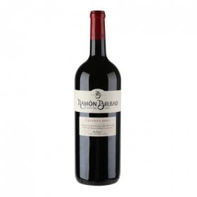 Vino D.O. Rioja tinto crianza magnum Ramón Bilbao 1,5 l.
