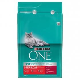 Comida para gatos Esterilizados con Buey