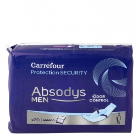 Proteccion masculina normal Absodys Carrefour 20 ud.