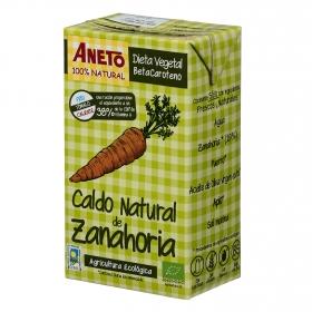 Caldo natural de zanahoria ecológico