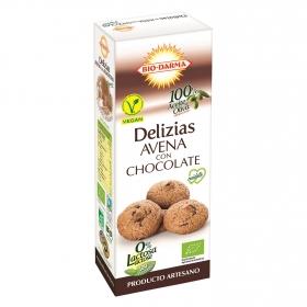 Galleta Delizias de Avena con Chocolate Sin Lactosa Bio