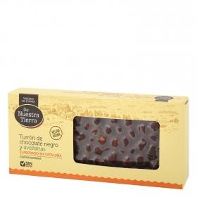 Turrón de chocolate negro y avellanas sin gluten