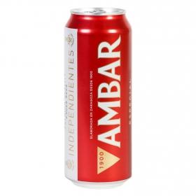 Cerveza Ambar Lager especial lata 50 cl.