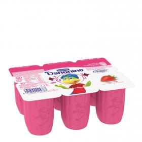 Petit de fresa Danone Danonino sin gluten pack de 6 unidades de 50 g.