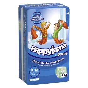 Pañales niño 8-12 años (27-57 kg.) Dodot Happyjamas 13 ud.