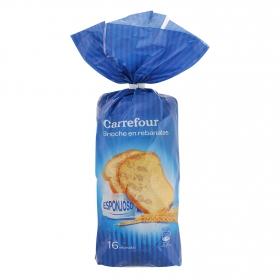 Pan de leche en rebanadas Carrefour 500 g.