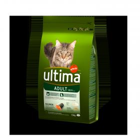 Ultima Pienso para Gato Adulto Sabor salmón y arroz 1,5kg