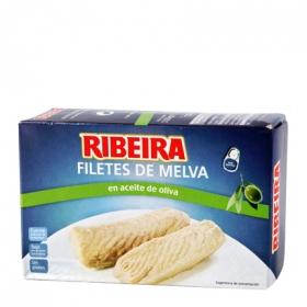 Filetes de melva en aceite de oliva Ribeira sin gluten 80 g.