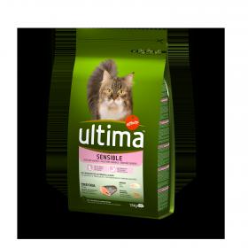 Ultima Pienso para Gato Adulto Digestión Delicada 1,5kg.
