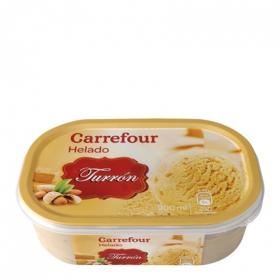Helado de turrón Carrefour 900 ml.