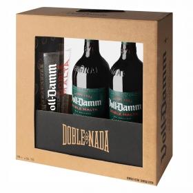 Cerveza Voll Damm doble malta pack de 2 botellas de 66 cl.