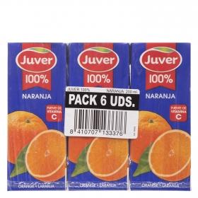 Zumo de naranja Juver pack de 6 briks de 20 cl.