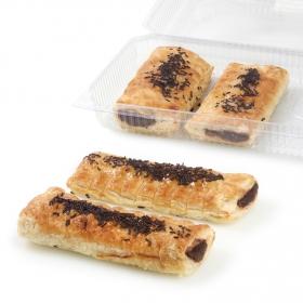 Cañas de hojaldre con crema de cacao Carrefour 4 ud