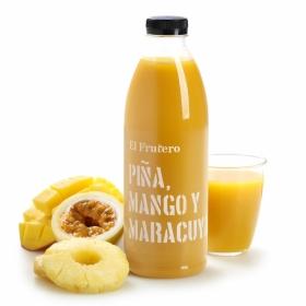 Zumo de piña, mango y maracuyá El Frutero botella 1 l.