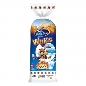 Bollo con pepitas de chocolate con leche Weikis La Bella Easo 6 ud.