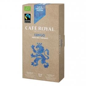 Café lungo ecológico en cápsulas Royal compatible con Nespresso 10 unidades de 5 g.