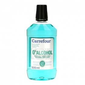 Enjuague bucal 0% Alcohol Carrefour 500 ml.